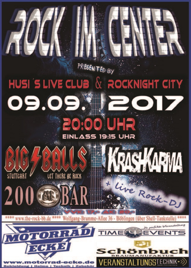 Rock im Center Flyer DIN A6